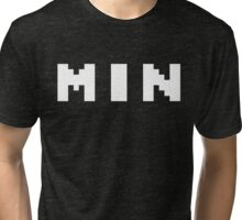 Tecmo Bowl Minnesota Vikings Football 8-Bit NES Nintendo Pixel Type Shirt T-shirt Tri-blend T-Shirt