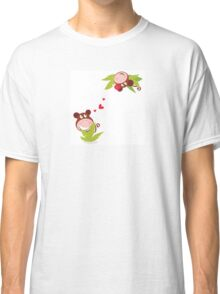 Monkey male and female in love looking each at other Classic T-Shirt
