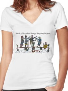 Battle of Stamford Bridge Tapestry Project logo Women's Fitted V-Neck T-Shirt