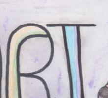 Love is... Art Sticker