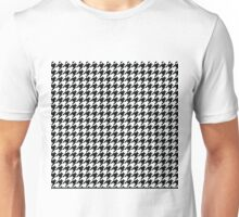 Houndstooth Black and White Pattern Unisex T-Shirt