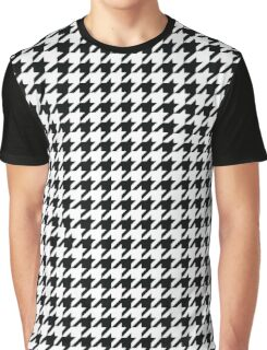 Houndstooth Black and White Pattern Graphic T-Shirt