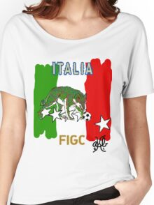 World Cup Italy Soccer (Football) Women's Relaxed Fit T-Shirt