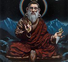 Greeting Card of Dudjom Lingpa, Meditation Master by brendonart