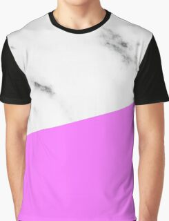 Trendy Marble and Pink Graphic T-Shirt