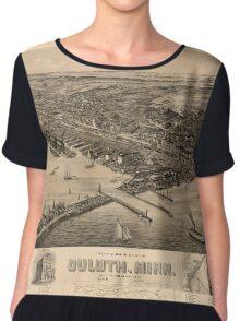 Map Of Duluth 1893 Chiffon Top