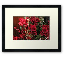 Scarlet Sensation - Winter Flowers and Berries Framed Print