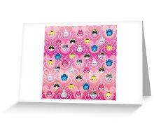 Tsum Tsum Alice in Wonderland - Pink Greeting Card