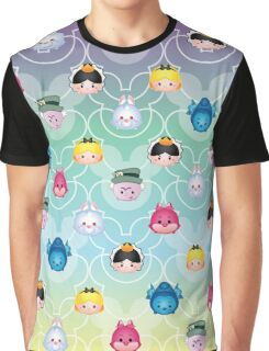 Tsum Tsum Alice in Wonderland - purple/green/blue/yellow Graphic T-Shirt