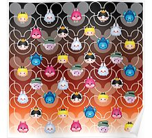 Tsum Tsum Alice in Wonderland - black/red Poster