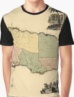 Map Of Jamaica 1763 Graphic T-Shirt