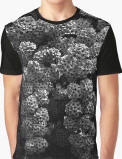 Backyard Flowers In Black And White 21 Graphic T-Shirt