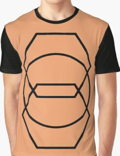 Circle Hexagons Pale Copper Graphic T-Shirt