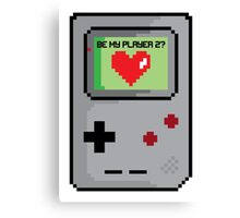 Be My Player 2 Canvas Print