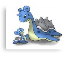 Lapras Pokemon Mother & Child Canvas Print