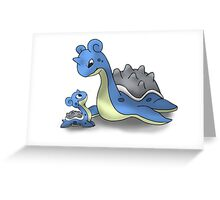 Lapras Pokemon Mother & Child Greeting Card