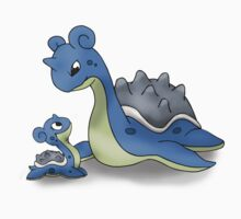 Lapras Pokemon Mother & Child One Piece - Short Sleeve