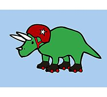 Roller Derby Triceratops Photographic Print