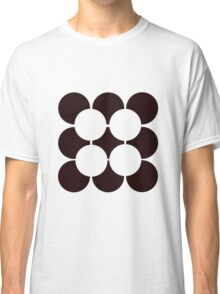 Black and White Circle Pattern Classic T-Shirt