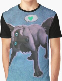 Tomu the Silver Fox (blue) Graphic T-Shirt