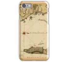 Map Of Gibraltar 1783 iPhone Case/Skin