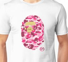 BAPE | Blue Pink ® | White Background | 0% Opacity | High Quality! Unisex T-Shirt