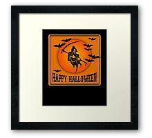 Happy Halloween Grim Reaper Framed Print