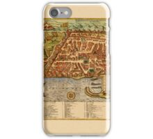Map Of Algiers 1588 iPhone Case/Skin