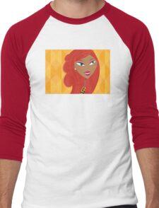 Luxury Girl as Lion inspired Girls illustration Men's Baseball ¾ T-Shirt