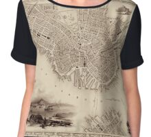 Map Of Boston 1838 Chiffon Top
