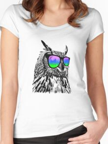 Cool Owl 1 Women's Fitted Scoop T-Shirt