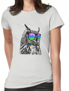 Cool Owl 1 Womens Fitted T-Shirt