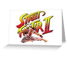 Ryu Flying Kick Greeting Card