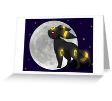 Umbreon with the Moon Pokemon Greeting Card