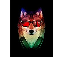 Hippie Wolf Photographic Print
