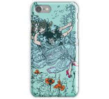 Cute Girl On The Swing In The Sky iPhone Case/Skin