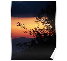 Sunset view from Idyllwild CA Poster
