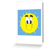 Smily Sun with Tear Greeting Card