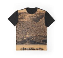 Map Of Ithaca 1882 Graphic T-Shirt