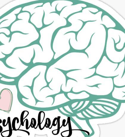 Psychology brain sticker Sticker