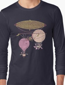 Vintage Flying Machines and Hot Air Balloons Long Sleeve T-Shirt