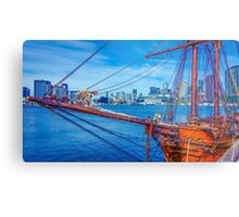 Ships Ahoy at Docklands Metal Print