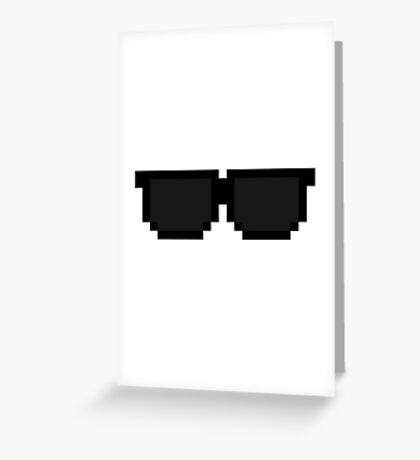 Pixel Sunglasses Greeting Card