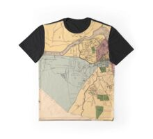 Map Of Lowell 1881 Graphic T-Shirt