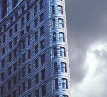 Blue Glow Flatiron Building Sticker