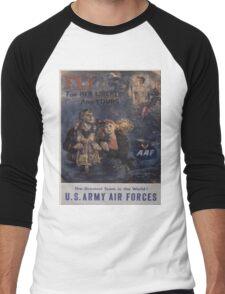 Vintage poster - Air Forces Men's Baseball ¾ T-Shirt