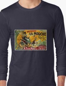 LA MOUCHE; Vintage Auto Advertising Print Long Sleeve T-Shirt