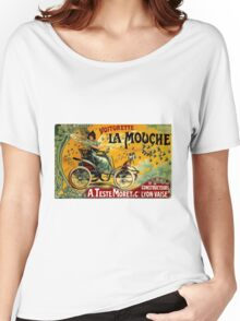 LA MOUCHE; Vintage Auto Advertising Print Women's Relaxed Fit T-Shirt
