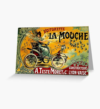 LA MOUCHE; Vintage Auto Advertising Print Greeting Card