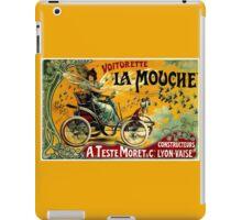 LA MOUCHE; Vintage Auto Advertising Print iPad Case/Skin